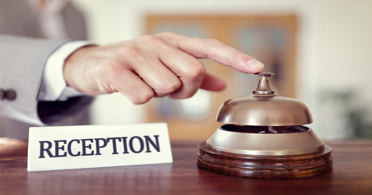 Hotel reception service bell